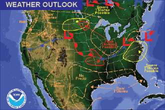 Weekend Weather Outlook: Chances of Thunderstorms