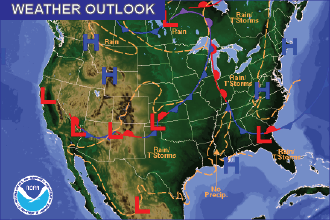 Weather Outlook: the Week Ahead - Cooler, Chances of Rain