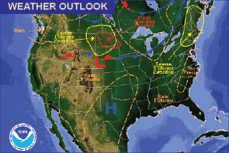 Weekend Weather Outlook: Slight Cooling and Thunderstorms