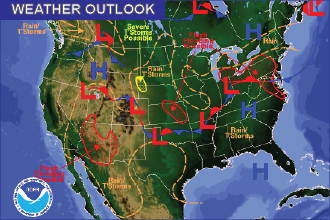 Weekend Weather Outlook: Thunderstorm Chances Continue