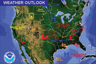 Weather Outlook – the Week Ahead: Thunderstorms and Slightly Warmer