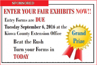 Don't Wait - Submit Your Kiowa County Fair Entry Forms Now