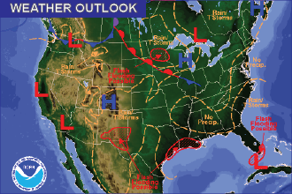 Weather Outlook – the Week Ahead: Thunderstorm Potential