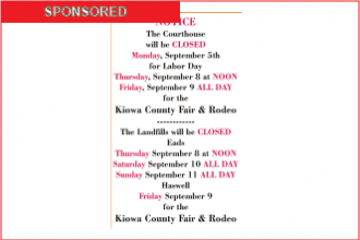 Notice - Courthouse Closed