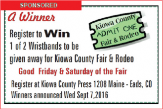 Kiowa County Fair - Register to Win