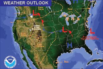 Weather Outlook – the Week Ahead: Broad Range of Temperatures