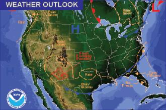 Weekend Weather Outlook – Chance of Rain
