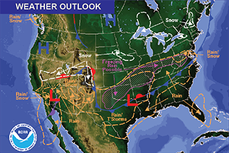 Weekend Weather Outlook – Ice and Snow