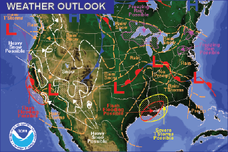Weekend Weather Outlook: Snow Friday