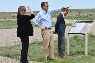 Governor Visits Sand Creek Massacre Historic Site