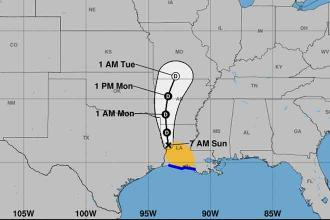 Tropical Storm Barry slowly moves inland; more flooding expected