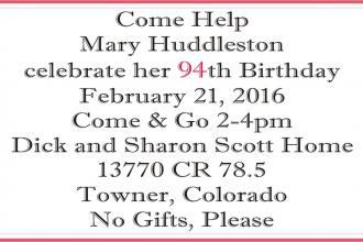 Birthday Celebration - Huddleston