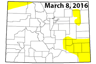 Dry Conditions Expand in Southeast Colorado