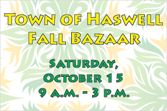 Town of Haswell Fall Bazaar