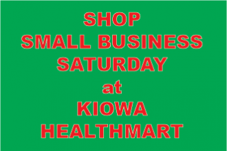 Great Deals at Kiowa Healthmart for Small Business Saturday