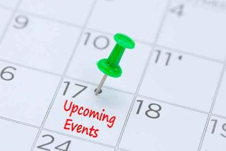 Upcoming Events - September 20, 2019