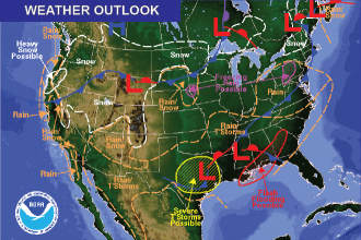 Weather Outlook – the Week Ahead: Sub-freezing and Snow Potential