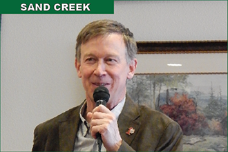 Governor Visits County Residents, Sees Future Sand Creek Research Center