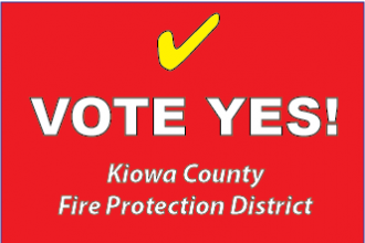 Vote YES for the Kiowa County Fire Protection District