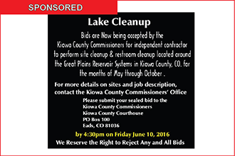 Commissioners Accepting Lake Cleanup Bids until June 10