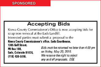 Bids being Accepted for Scrap Removal