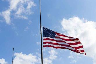 Flags Lowered to Honor Firefighter Dan Moran