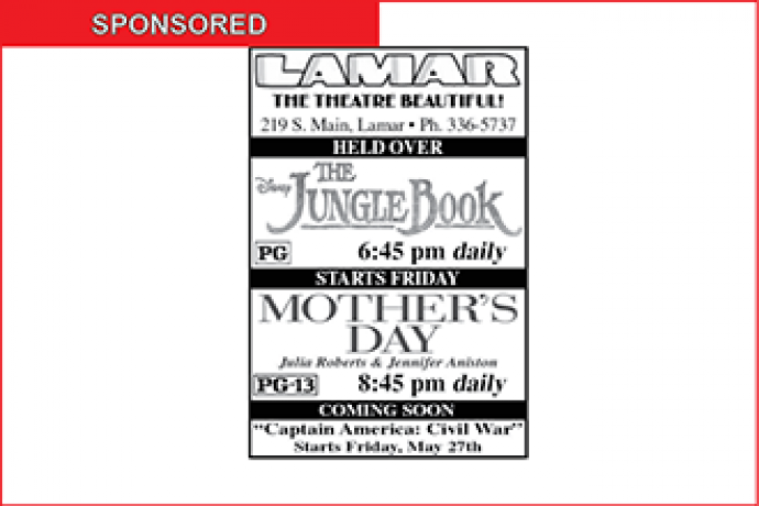 Lamar Theatre Ad - May 20, 2016