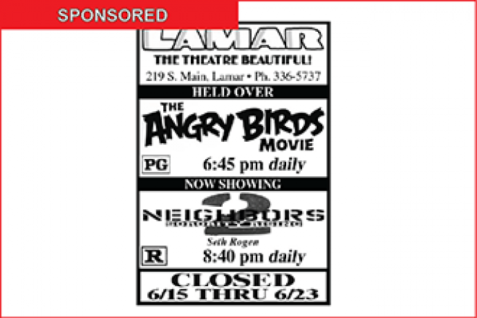 Lamar Theatre Ad - June 10, 2016