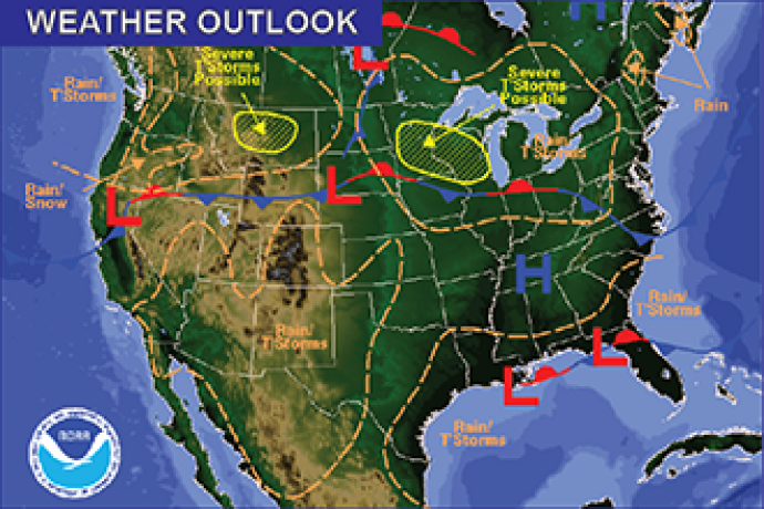 Weekend Weather Outlook - June 10, 2016