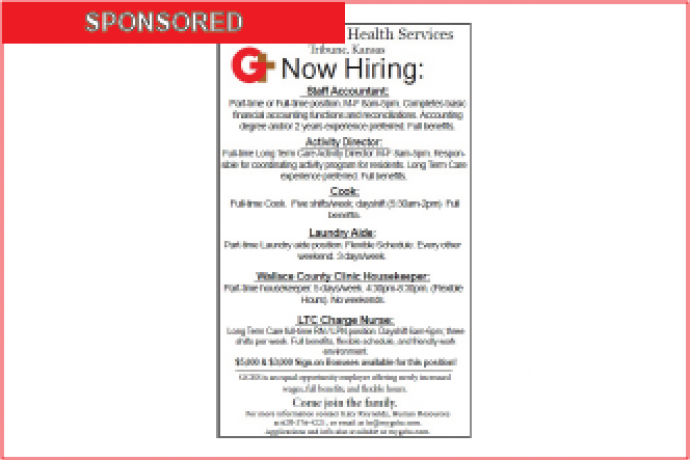 Greeley County Health Services - Positions Available