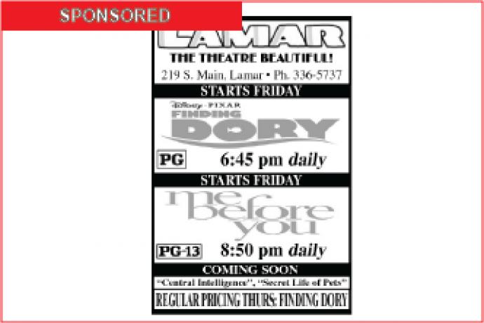 Lamar Theatre Ad - July 8, 2016