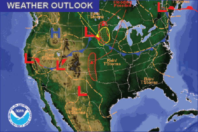 Weather Outlook - July 8, 2016