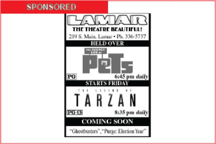 Lamar Theatre Ad - July 29, 2016