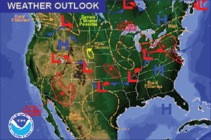 Weather Outlook - July 30, 2016