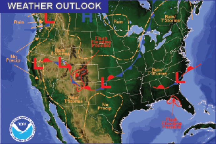 Weather Outlook - August 5, 2016