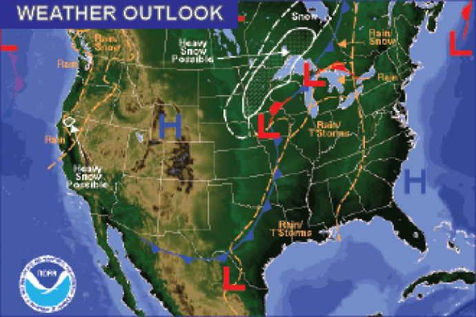Weather Outlook - November 18, 2016