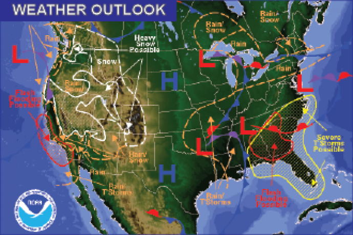 Weather Outlook - January 22, 2017