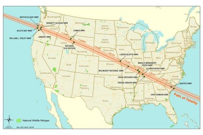 MAP - Eclipse Map - Liz Cruz USFWS