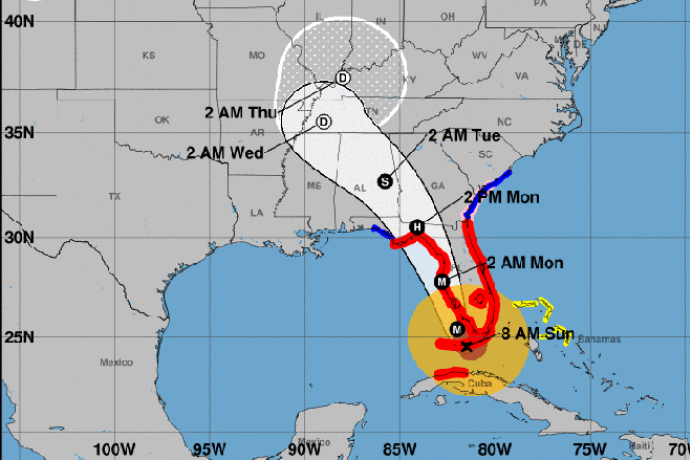 MAP - Hurricane Irma Path - September 10, 2017