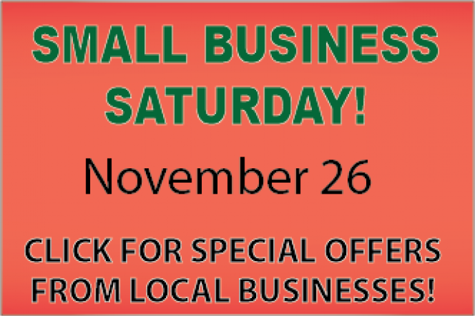 Support our local merchants for Small Business Saturday