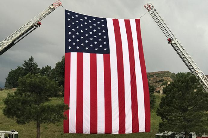 PROMO 660 x 440 Flag - US Flag Fire Truck Ladder - Chris Sorensen