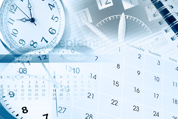 PROMO 660 x 440 Miscellaneous - Calendar Clock Events Calendar- iStock