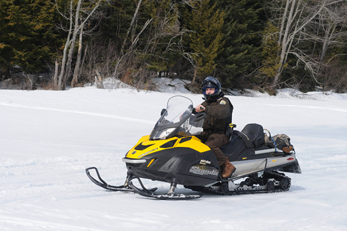 PROMO 660 x 440 Transportation - Law Enforcement Officer Snowmobile - USFWS