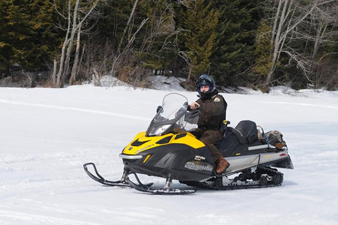 PROMO 660 x 440 Transportation - Law Enforcement Officer Snowmobile - USFWS