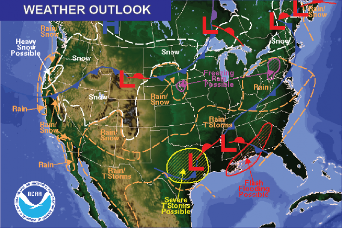 Weather Outlook - January 1, 2017