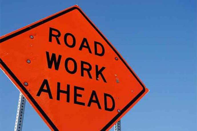 PROMO 64J1 Sign - Construction Road Work - iStock - jakes47s