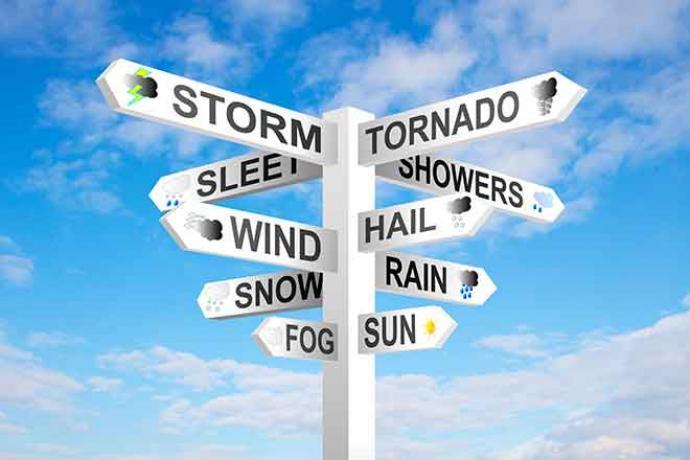 PROMO Weather - Sign Storm Tornado Wind Hail Snow Rain - iStock - Eyematrix
