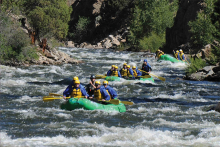 Rafting on the Upper Arkansas River - Courtesy CPW