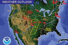 National Weather Map for May 8, 2016