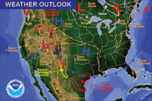 National Weather Map for May 15, 2016